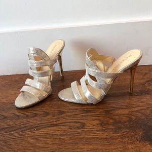 Ivanka Trump Sexy, Gold High Heels